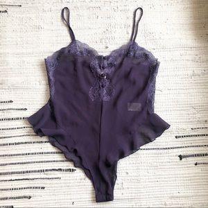 Gorgeous vintage purple bodysuit